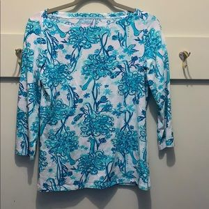Lilly Pulitzer boatneck top